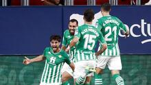 Real Betis gana ante el Osasuna y Guardado rompe récord