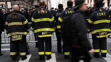 El sindicato de bomberos de Nueva York está listo para su manifestación frente a Gracie Mansion