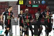 PSG solo empata ante el Rennes y se aleja del título en Francia