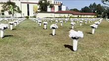 Colocan 3,400 ramos de flores en memoria de víctimas de violencia con armas de fuego
