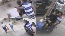 A toda velocidad en una scooter roban cadena a mujer en el Bronx