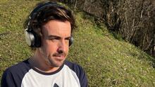 Fernando Alonso sube primera foto tras accidente en bicicleta