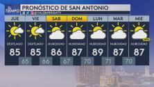 Jueves con cielos mayormente despejados y condiciones secas en San Antonio