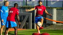 Buenas noticias para el Barça: Dembélé y Agüero entrenaron con el grupo