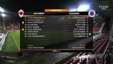Resumen del partido Royal Antwerp vs Rangers
