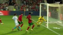¡GOL!  anota para Portugal. Cristiano Ronaldo