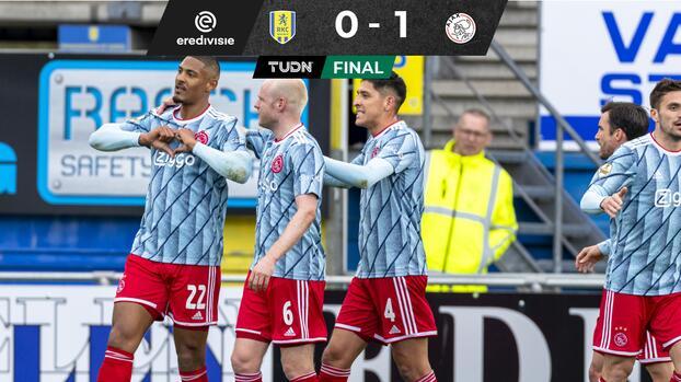 Edson impone marca de balones recuperados en triunfo de Ajax