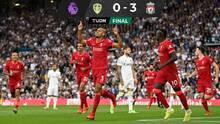 Leeds no puede ante un Liverpool que sigue invicto en la Premier