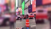 Policía dice que ho hubo un tiroteo en Times Square, se cayó una maceta y una barricada