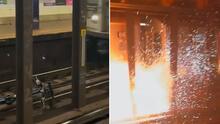 En video: Tren impacta a bicicleta en las vías y provoca una explosión en subway de Queens