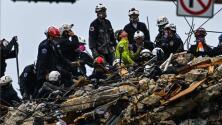 Se reanudan las labores de búsqueda en el área del edificio colapsado en Surfside, ¿por qué se habían suspendido?