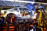 A robot in the Body Shop of Flat Rock Assembly Plant works to build a Mustang body. Ford Mustang is the best-selling sports car of the last 50 years, is featured in more movies and has more Facebook followers than any other car in the world.