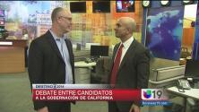 Previo al debate entre candidatos a Gobernador de California