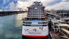Llega Mardi Gras de Carnival, es el primer crucero en llegar a Puerto Rico post pandemia