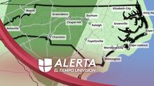 Lluvias y tormentas dispersas el miércoles en estos condados de Carolina del Norte