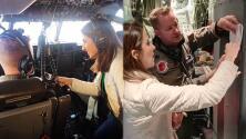 Tras 12 horas a bordo de un avión cazahuracanes, Maity Interiano sintió lo que es atravesar el ojo de Dorian