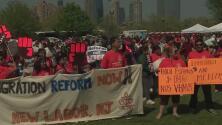 Con completa tranquilidad se realizaron las manifestaciones por el Día del Trabajo en Jersey City