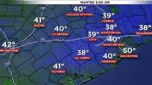 Continúan las temperaturas frías en Houston