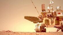 La vista espectacular de una llanura en Marte es captada por el primer rover de China
