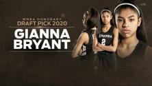 Gianna Bryant fue homenajeada en el draft de la WNBA