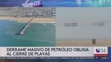 Derrame masivo de petróleo obliga al cierre de playas