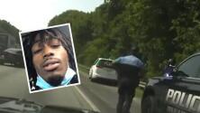 (VIDEO) Persecución a alta velocidad: Joven es arrestado tras robar carro fúnebre y cadáver salir expulsado