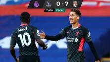 Liverpool humilla al Crystal Palace de la mano de su tridente