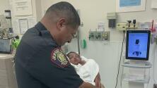 Rescate heroico: policía hispano salva la vida de un bebé recién nacido que fue lanzado desde un edificio