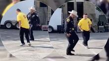 """Captan en video un """"duelo de baile"""" entre un oficial texano y un chico de 17 años"""