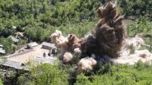 Así destruyó Corea del Norte lo que dijo ser túneles de pruebas nucleares