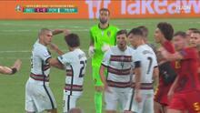 ¡Se desata la bronca! Pepe derriba a Hazard y todos se 'calientan'