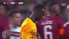 ¡Expulsión! El árbitro saca la roja directa a Akram Hassan Afif.