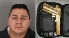 Decomisan drogas, dinero en efectivo y una pistola bañada en oro tras parada de tráfico