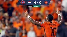 Países Bajos vence a Montenegro con un Memphis determinante