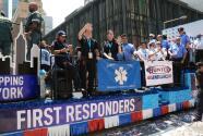 Con un desfile, Nueva York rinde tributo a todos los trabajadores esenciales