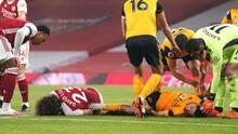 Raúl Jiménez sufre conmoción en el partido entre Wolves y Arsenal