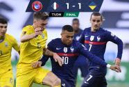 Se atascó Francia y Ucrania le sacó el empate en París