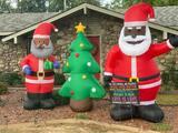 La familia que recibió una carta de amenaza por poner un papá Noel negro en su jardín
