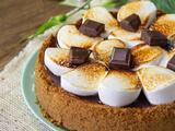 Cheesecake de s´  mores: ¡chocolate, bombones y galletas!