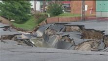 Colapsa una carretera en Tennessee