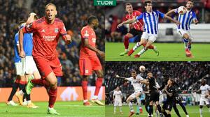 PSV y la Real Sociedad dividieron puntos en un partidazo; Lyon ganó en Escocia