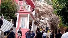 📸 En fotos: buscan sobrevivientes tras el derrumbe de un cerro cerca de la Ciudad de México que dejó al menos una persona muerta