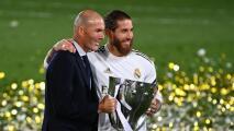 """Sergio Ramos se despide de Zidane diciéndole que es """"único e irrepetible"""""""