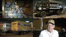 """""""Mattress Mack"""" envía un convoy de 13 camiones a Louisiana para los afectados por el huracán Ida"""
