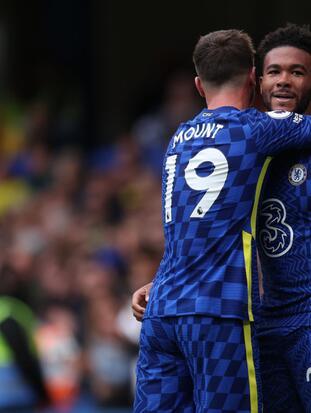 Mason Mount tiene una noche de ensueño y comanda la goleada 7-0 sbre el Norwich City, Manchester City también golea y se imponen 1-4 al Brighton & Hove Albion.