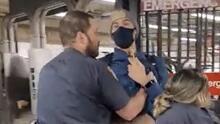 Disciplinan a policías que fueron filmados sin llevar mascarillas en el subway