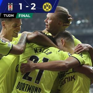 Encabezados por Haaland, Borussia Dortmund triunfa ante Besiktas