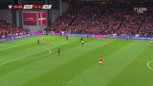 ¡Milimétrico! Con gol de Maehle, Dinamarca ya gana y ve Qatar 2022