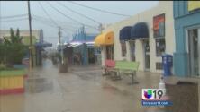 El paso del huracán Arthur