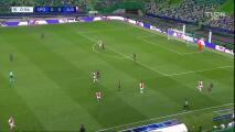¡Gol del Ajax! Haller aprovecha un 'regalo' del poste para el 1-0 sobre Sporting